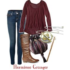 """""""Hermione Granger inspired outfit"""" by disney-addicted on Polyvore"""