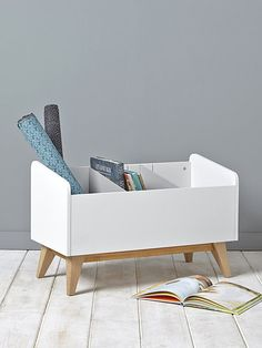 A small piece of furniture in retro style for exceptional storage .