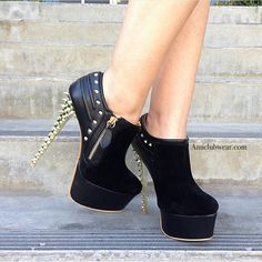 Gold spiked boots