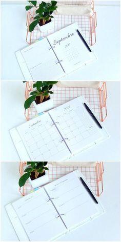 agenda imprimable gratuitement + astuces pour l'utiliser pour s'organiser 1