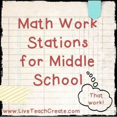 Work Stations Galore For Middle School