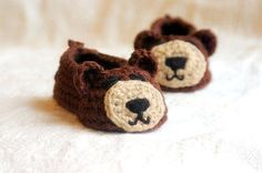 Crochet Pattern for Baby Bear House slippers by TwoGirlsPatterns