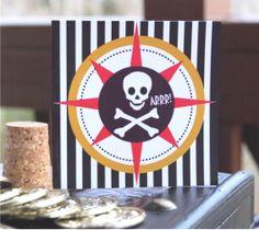 Tarjeta fiesta Pirata