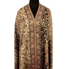 "Ibaexports Large Beige Wool Blend Shawl Jamawar Jacquard Paisley Weaving Wrap Woman Stole India New 80"" X 40"" Inches IBA. $56.99"
