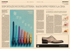 Moda24 issue 3 - Handmade #data #visualization, made in Italy leather industry's export @24moda