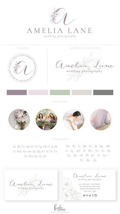 Elegant Floral Logo Premade Logo Wedding Photography Logo