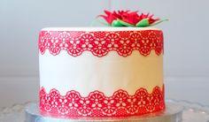 Cómo hacer encaje comestible paso a paso | Decoración de Tartas de Fondant por Azúcar con Amor