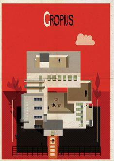 Archibet alphabet of architects by Federico Babina | Gropius
