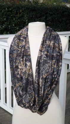 d6968a042610 Snood écharpe tube tour du cou foulard  femme  coton viscose  marron gris  collection  2018 anniversaire cadeau maitresse