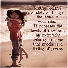 Kissing...