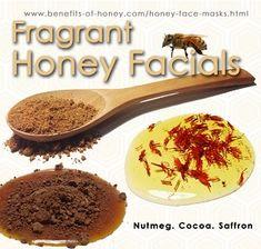Fragrant honey facials with nutmeg / cocoa / saffron.