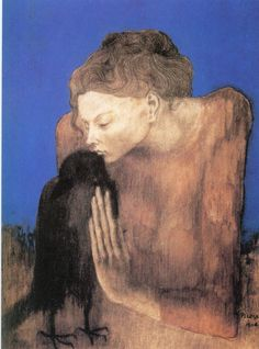 Pablo Picasso (1881-1973) - Woman with a Crow, 1904