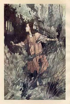 Charles Robinson - Frontispiece from The Secret Garden, Heinemann, 1911