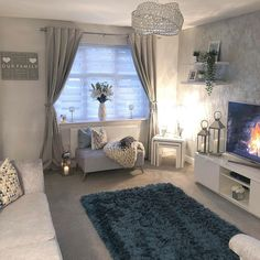 Monday inspiration is this cozy living room of ✨. The size of the living room does not matter, it really depends on your… Living Room Decor Cozy, Living Room Grey, Home Living Room, Apartment Living, Living Room Designs, Bedroom Decor, Living Spaces, Interior Design, Interior Decorating