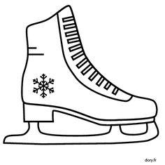 Dessin gratuit à imprimer, un patin artistique Winter Art Projects, Penny Rugs, Winter Kids, Felt Crafts, Doodle Art, Scrapbook Pages, Digital Scrapbooking, Coloring Books, Christmas Crafts