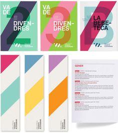 Vibrant new identity for Vicente Aleixandre library in Badia del Vallès, Spain. Designed by studio Txell Gràcia via Plenty of Colour