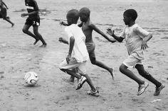 """""""Futbol Fever"""" Thank you to Jessica Hilltout for this idea, Mandela Park, Accra, Ghana."""