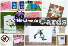 50 Handmade Card ideas--tons of great ideas for Mother's Day!