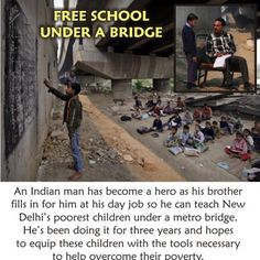 FREE SCHOOL UNDER A BRIDGE