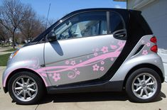 girly car decals and graphics Girly Car Decals, Car Accessories For Guys, Smart Fortwo, Cute Cars, Car Wrap, Car Stickers, Graphic Illustration, Illustrations, Graphics