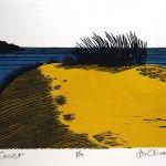 Beach  Linocut  Di Oliver