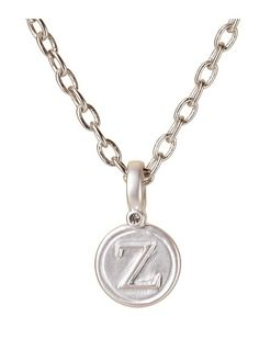 ZETA GREEK LETTER PENDANT, SILVER BP FINISH