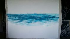 Fiona Tyler - Grey area oil on gesso fabric