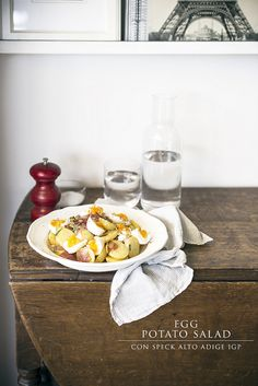 egg potato and speck salad with mustard vinaigrette and tarragon by www.pane-burro.blogspot.it