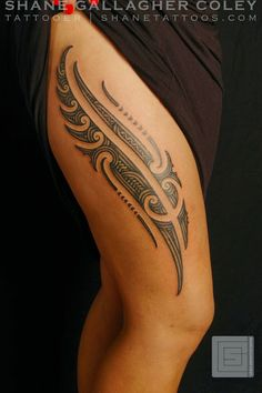 SHANE TATTOOS: Maori Thigh Tattoo/Ta Moko