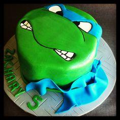 Ninja Turtle cake - Leonardo - vanilla Sponge cake - Cakes by Lou