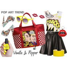 Pop Art Trend by marimartinsvanilla on Polyvore Moda Pop Art, Pop Art Fashion, Women's Fashion, Fashion Design, Pop Art Costume, Pop Art Makeup, Pop Art Girl, Brand Strategist, Art Bag