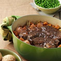 Balsamic Braised Pot Roast  Recipe: Taste of Home:  Made this tonight in my great grandmother's cast iron pot.  It was soooo good.  Will make this again.