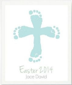 40 Easy Easter Crafts for KidsThe Holy Week officially begins today. In our Sunday school lesson this morning, we talked about Jesus Baby Jesus Crafts, Easter Jesus Crafts, Preschool Easter Crafts, Easter Crafts For Preschoolers, Baby Handprint Crafts, Baby Footprint Crafts, Easter Crafts For Kids, Easter Activities, Easter Projects