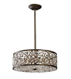 ELK Lighting Amherst 6 Light Pendant in Antique Bronze 11287/6 | Elk Lighting Lights | ELK Lighting | ELK Lighting Chandeliers | ELK Lighting Pendants | Lighting New York | Lighting Fixtures