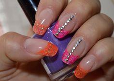 Summer Studs by Papiro via @nailartgallery #nailartgallery #nailart #nails #acrylic #glitter #neon #acrylics #neonpink #acrylicnails