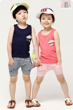 Triangles Tank and Shorts Set for unisex kids fashion at colormewhimsy