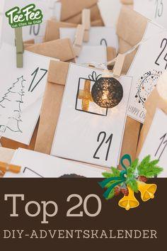 Sicher beschäftigt auch viele von euch dieses Thema gerade. Daher habe ich die schönsten zwanzig DIY-Adventskalender Ideen für euch in diesem Beitrag einmal zusammengefasst. Beim Design der Kalender dürft ihr euch ruhig austoben. Ich wünsche euch ganz viel Spaß beim Stöbern und Nachmachen! Mama schreibt 'ne Liste, DEPOT, Lavendelblog...und 17 weitere zauberhafte Ideen! #adventskalender #diy #xmas2020