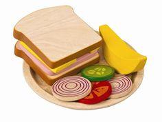 Plan Toys Planactivity Sandwich Meal Play Set  Preschool Toys food learning kids