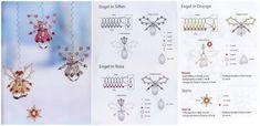 ангелы из бисера и бусин, схема плетения