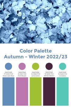 """Trend Color Palette Autumn-Winter 2022/23 """"Jolt"""" #color #trends #pantone Pantone Colour Palettes, Color Schemes Colour Palettes, Fall Color Palette, Colour Pallette, Pantone Color, Color Trends, Color Combos, Color Combinations For Clothes, Winter Mode"""