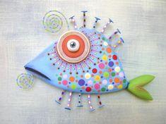 Found object art sculpture art furniture paintings от FigJamStudio Fish Wall Art, Fish Art, Fish Fish, Betta Fish, Art Fantaisiste, Art Mural, Fish Sculpture, Wall Sculptures, Wooden Fish
