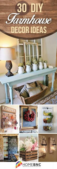 30 Ways DIY Farmhouse Decor Ideas Can Make Your Home Unique #diyhomedecorideasorganizations