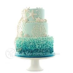Ombre Ocean Cake…would be great in coral tones, too! Ombre Ocean Cake…would be great in coral tones, too! Pretty Cakes, Beautiful Cakes, Amazing Cakes, Beautiful Ocean, Ocean Cakes, Beach Cakes, Beach Birthday Cakes, Teen Birthday Cakes, 17th Birthday