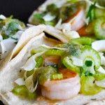 Grilled Shrimp Tacos with Salsa Verde