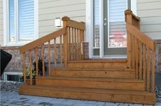Wooden Steps and Deck, pyramid style