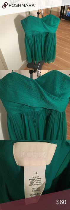Jcrew silk party dress size 12 Jcrew size 12 Arabelle dress in silk chiffon in Gallery Green J. Crew Dresses Strapless