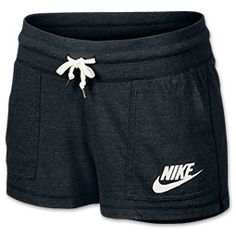 Lazy days or a low-key workout call for casual wear that flatters, like the Women's Nike Gym Vintage Shorts. With old-school gym shorts styling, these cozy bottoms look just as cute lounging around the house as they do during your favorite workout class. Short and sweet, these babies feature an ultra-soft cotton and polyester blend fabric that will keep you comfy all day long. Get a perfect fit from the wide rib waistband with adjustable drawcord, while the vented hem and ultra ...