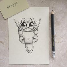 Amazingly cute art by Chris Ryniak  Hang in there cat! #hotelscribbles (at The Peninsula Manila)