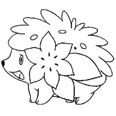 shaymin coloring page