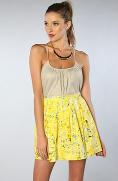 $48 The Duke Zanzibar Sateen Pleated Skirt by Jack BB Dakota - Use repcode SMARTCANUCKS for 20% off on #karmaloop - http://www.lovekarmaloop.com